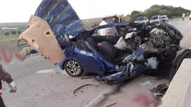 حادثة سير خطيرة قرب تازة تخلف 3 قتلى من عائلة واحدة